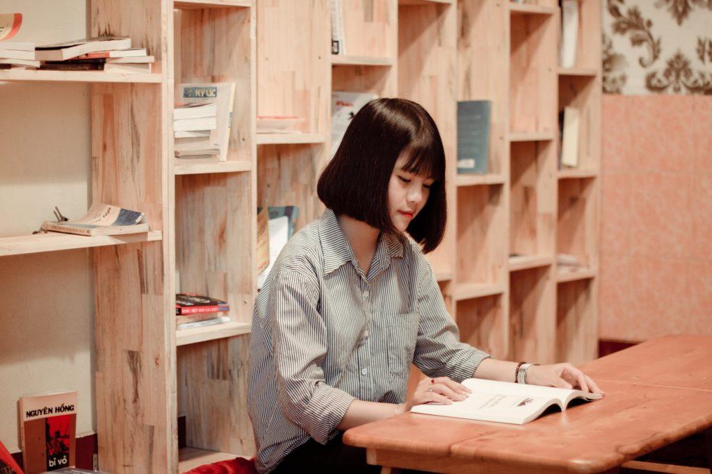 student preparing for quiz